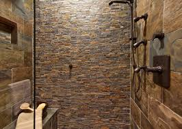 rustic stone bathroom designs. northwest stone mosiac shower bathroom rustic-bathroom rustic designs