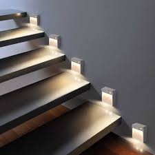 Interior Stair Lights 10pcs Lot Recessed Led Stair Lights Sconce Lamps Modern Wall