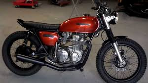 honda cb550f brat tracker cafe youtube