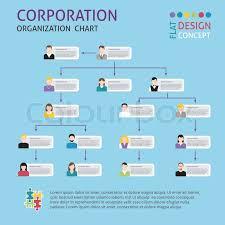 Corporate Organizational Chart Corporate Structure Organisation Chart Stock Vector