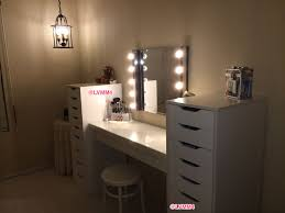 Where Can I Buy A Makeup Vanity Table With Lights My Vanity Is Finished Ikea Malm Dressing Table 149 2