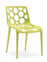 lotus chair in polypropylene with shell with circular holes