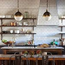 french bistro lighting. french bistro style wood shelves subway tiles to the top tiled hood lighting h