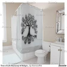 shower curtain dotz tree of life colorful