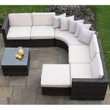 maze rattan barcelona corner sofa set