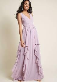 Light Purple Maxi Dress As Ruffles Ripple Maxi Dress Summer Bridesmaid Dresses