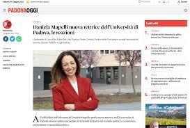 Daniela Mapelli nuova rettrice dell'Università di Padova, le reazioni