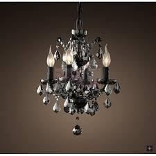 industrial lighting chandelier. Modren Industrial RH 19TH C ROCOCO Smoke Crystal Chandelier  A Modern Industrial Lighting  Design On DezignLovercom Intended Industrial Lighting