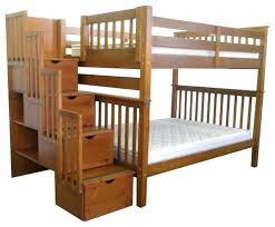 twin over full bunk bed with stairs. Bunk Bed With Trundle And Stairs Woodland Twin Over Full