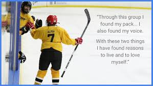 """what gay hockey means to me"" essays published and  andrew alpha brausen"