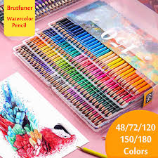 Brutfuner <b>48/72/120/160</b>/<b>180Color Professional Oil</b> Color Pencils ...