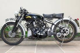 classic vincent black shadow motorbike found in family s cupboard