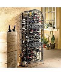 standing wine rack. Renaissance Wrought Iron Wine Jail Standing Rack