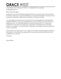 Best Software Engineer Cover Letter Examples Livecareer