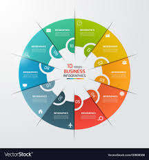10 Pie Chart 10 Options Pie Chart Circle Infographic Template