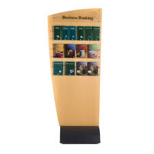 Free Standing Brochure Display Stands Custom Bank Freestanding BrochurePoster Holder 2