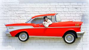 elvis presley decor simple vintage car wall decor