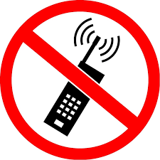 No Cell Phone Sign Printable No Symbol Mobile Phone Radiation And Health Sticker Text