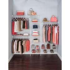 wire closet shelving. White Ventilated Wire Closet Organizer Kit Shelving