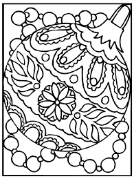 Exquisite Ideas Christmas Ornament Coloring Pages Page Free From