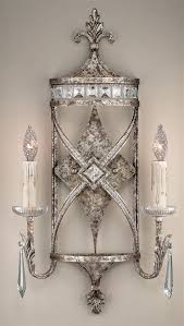 wall candle holders metal hanging decorative crystal
