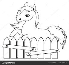 Kleine Schattige Paard Kleurplaat Stockfoto Tatty77tatty 158068852