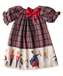 Caught Ya Lookin Navy & Red Plaid Nutcracker Priscilla Bishop Dress | Best  Price and Reviews | Zulily