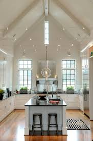 Kitchen Living Room Dress In Sparkles String Lights Vaulted Ceilings And Window