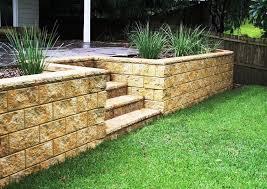 image of backyard retaining wall ideas