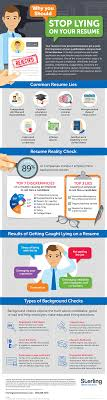 Infographic Stop Lying On Your Resume Sterling Talent Solutions