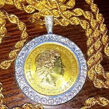 lab diamond pendants mens multi tone gold sterling silver custom lab diamond liberty