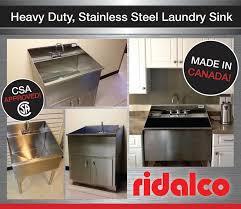 stainless steel laundry sink vanity