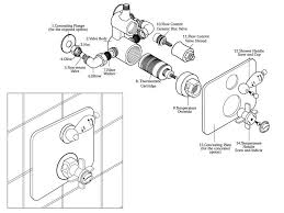 ultra twin recessed thermostatic shower valve spares breakdown diagram