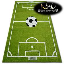 thick rugs pilly carpets football pitch for kids ball print area large size