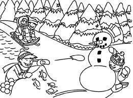 Small Picture Kids playing in winter coloring pages ColoringStar