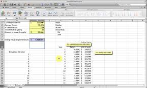 Monte Carlo Simulation Template Basic Monte Carlo Simulation of a Stock Portfolio in Excel YouTube 1