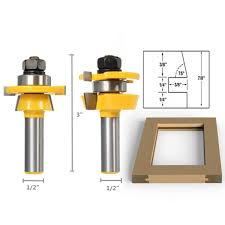 drillpro rb11 shaker bevel rail and stile glue joint router bit for cabinet door 1