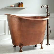 copper soaking mini tub thumb small deep bathtub bathtubs for bathrooms australia ideas