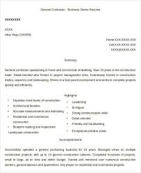 Gallery Of 24 Business Resume Templates Free Premium Templates
