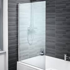pivot shower bath screen glass seal single over hinge bathroom panel door