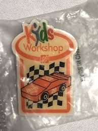 New The Home Depot Kids Workshop 20 Orange Race Car Pin Collectible