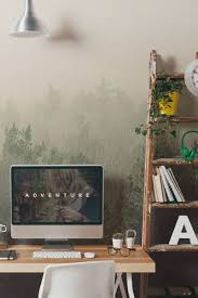 Home office wallpaper Feminine Create Laidback Feel For Your Home With This Dreamy Forest Wallpaper Mural Its The Perfect Backdrop To Your Home Office Or Living Room Space Pinterest Achieve Scandi With These Dreamy Forest Wallpaper Murals House
