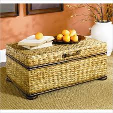 seagrass coffee table storage