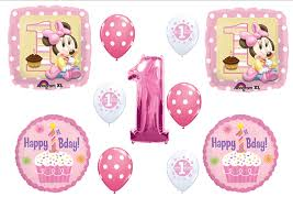 Amazon BABY MINNIE MOUSE CUPCAKE 1ST First BIRTHDAY PARTY
