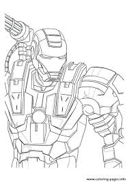 War Machine Avengers Marvel Coloring Pages Printable War Machine
