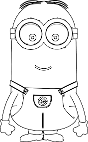 Minions Kevin Perfect Coloring Page | Wecoloringpage … | Pinteres…