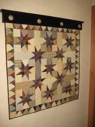 Quilt Holders for the Wall | Items similar to Wall-hanging Quilt ... & Scrappy Stars I like the shelf/quilt hanger Adamdwight.com