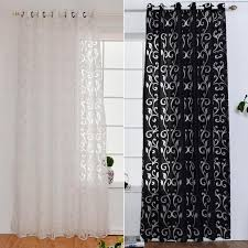 Black living room curtains Eyelet 2019 Curtain Window Living Room Jacquard Fabrics Luxury Semi Blackout Curtains Panel Living Room Curtains Short Black White Curtain From Bassy168 Dhgate 2019 Curtain Window Living Room Jacquard Fabrics Luxury Semi