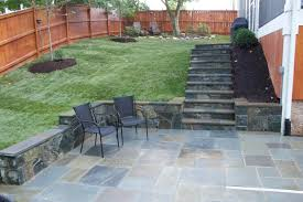... Magnificent Exterior Design Ideas In Decorating Fieldstone Patio Garden  Pictures : Lovely Green Grass Flooring Backyard ...