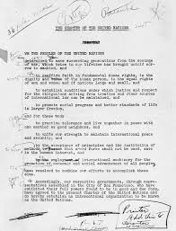 united nations on years ago manuscript of un charter  never miss a moment